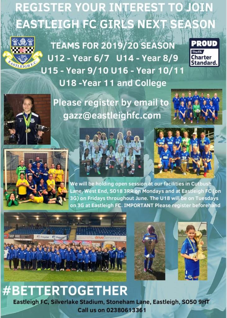 Girls & Ladies Football – Eastleigh FC